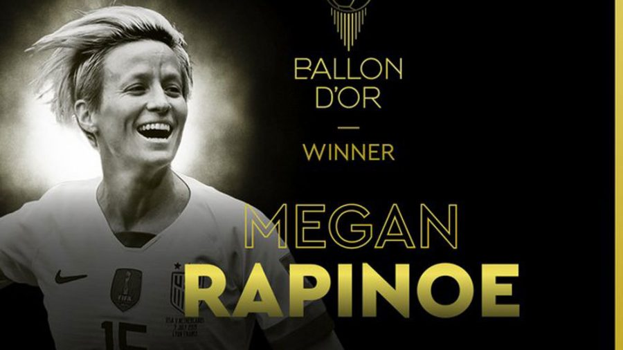 Megan Rapinoe wins women's Ballon d'Or for 2019.