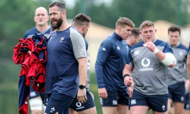 Andy Farrell at home with Ireland and prepares to lean on career mentors.