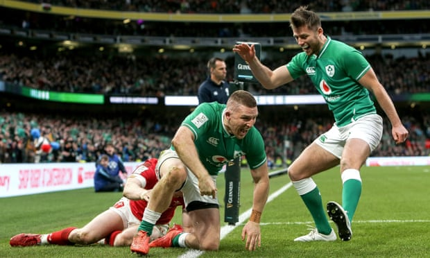 Ireland's Andrew Conway seals Six Nations bonus-point win over Wales.