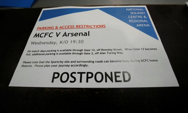 Arsenal players in self-isolation as Manchester City game postponed due to coronavirus