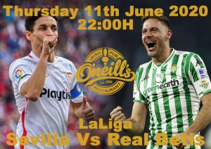 SEVILLA VS BETIS 11 JUNIO 2200