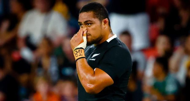 All Blacks prop Tu'ungafasi cops three-week ban for high hit.